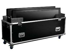 Motorized lift TV flight case for 50 inch TV