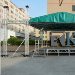 Aluminum Flat Roof System with stage