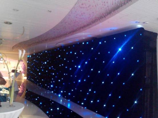 RK Star Curtain for Hall Backdrop Decoration